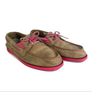 ⚡️Sperry Brown and Pink Leather Shoes Size 5